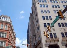 Im Stadtzentrum gelegene Straßen-Szene Baltimore Lizenzfreie Stockbilder