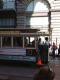 Im Stadtzentrum gelegene Straßenbahn des San Francisco Laufkatzenautos lizenzfreies stockbild