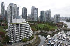 Im Stadtzentrum gelegene Vancouver-Wohnung Lizenzfreie Stockbilder