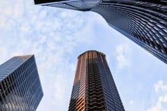 Im Stadtzentrum gelegene Wolkenkratzer Seattles Stockfoto