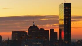 Im Stadtzentrum gelegene Zeitspanne Bostons Stockbilder