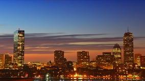 Im Stadtzentrum gelegene Zeitspanne Bostons Stockbild