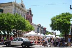 Im Stadtzentrum gelegener Austin Texas während eines Festivals lizenzfreie stockfotos