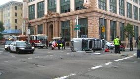 Im Stadtzentrum gelegener Autounfall Lizenzfreie Stockfotografie