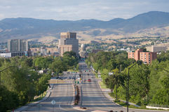 Im Stadtzentrum gelegener Boise, Idaho Stockfotografie