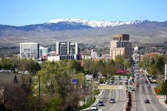 Im Stadtzentrum gelegener Boise Idaho Lizenzfreies Stockfoto