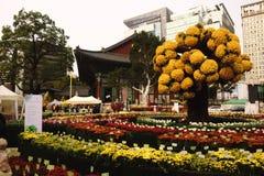 Im Stadtzentrum gelegener Garten Seouls Korea Stockbild