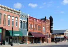 Im Stadtzentrum gelegener Harlan Iowa Stockbild