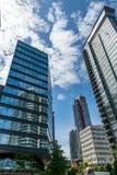Im Stadtzentrum gelegener Jachthafenbereich Vancouvers Lizenzfreies Stockfoto