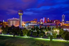 Im Stadtzentrum gelegener Knoxville Lizenzfreies Stockfoto