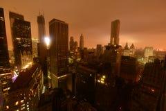 Im Stadtzentrum gelegener Manhattan-Stromausfall wegen Sandys Stockbild