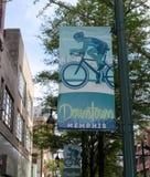 Im Stadtzentrum gelegener Memphis Sign und Markierung lizenzfreie stockfotos