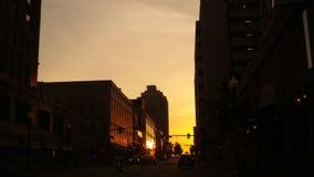 Im Stadtzentrum gelegener Memphis-Sonnenuntergang Stockfoto