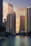 Im Stadtzentrum gelegener Miami-Finanzbezirk Brickell Stockfotografie