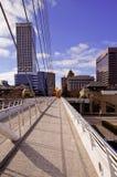 Im Stadtzentrum gelegener Milwaukee von der Calatrava Ausstellung Lizenzfreies Stockfoto