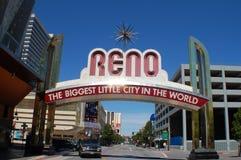 Im Stadtzentrum gelegener Reno Lizenzfreie Stockfotos