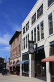 Im Stadtzentrum gelegenes Asheville Stockbild