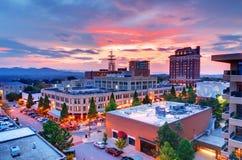 Im Stadtzentrum gelegenes Asheville Stockfotografie