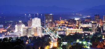 Im Stadtzentrum gelegenes Asheville Stockfoto