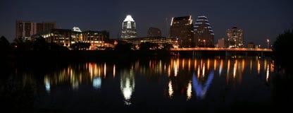 Im Stadtzentrum gelegenes Austin, Texas nachts Lizenzfreie Stockfotografie