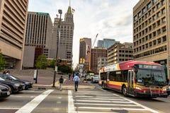 Im Stadtzentrum gelegenes Baltimore Maryland Stockfoto