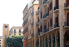 Im Stadtzentrum gelegenes Beirut Stockfotografie