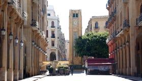 Im Stadtzentrum gelegenes Beirut Stockfotos