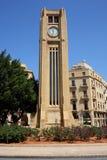 Im Stadtzentrum gelegenes Beirut, Borduhr-Kontrollturm Lizenzfreies Stockbild