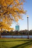 Im Stadtzentrum gelegenes Boston während des Falles Stockfotos
