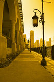 Im Stadtzentrum gelegenes burj Dubai Lizenzfreies Stockfoto