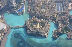 Im Stadtzentrum gelegenes Burj Khalifa, Dubai Lizenzfreies Stockbild