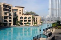 Im Stadtzentrum gelegenes Burj Khalifa, Dubai Stockfotografie