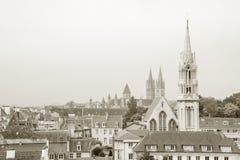 Im Stadtzentrum gelegenes Caen, Normandie Stockbild