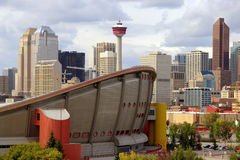 Im Stadtzentrum gelegenes Calgary Lizenzfreie Stockbilder