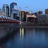 Im Stadtzentrum gelegenes Calgary stockbilder