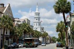 Im Stadtzentrum gelegenes Charleston Sc Stockbild