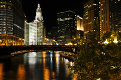 Im Stadtzentrum gelegenes Chicago Stockbild