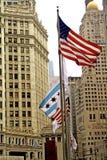 Im Stadtzentrum gelegenes Chicago Lizenzfreie Stockfotografie