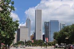 Im Stadtzentrum gelegenes Chicago, Illinois lizenzfreie stockfotos