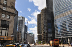 Im Stadtzentrum gelegenes Chicago, Illinois Lizenzfreie Stockfotos