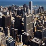 Im Stadtzentrum gelegenes Chicago - Illinois - USA Lizenzfreie Stockfotografie