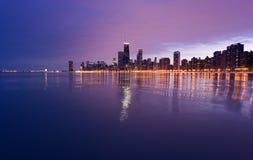Im Stadtzentrum gelegenes Chicago vom See Mic Lizenzfreie Stockfotos