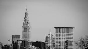 Im Stadtzentrum gelegenes Cleveland Lizenzfreies Stockbild