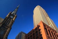 Im Stadtzentrum gelegenes Cleveland Stockfotos