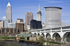 Im Stadtzentrum gelegenes Cleveland Stockfoto
