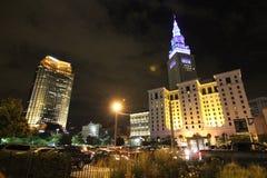 Im Stadtzentrum gelegenes Cleveland Ohio Stockfotografie