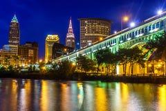 Im Stadtzentrum gelegenes Cleveland Ohio Lizenzfreie Stockbilder
