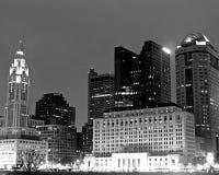 Im Stadtzentrum gelegenes Columbus Skyline Stockbilder