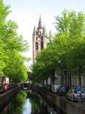 Im Stadtzentrum gelegenes Delft Lizenzfreie Stockfotos