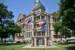 Im Stadtzentrum gelegenes Denton Courthouse Lizenzfreies Stockbild